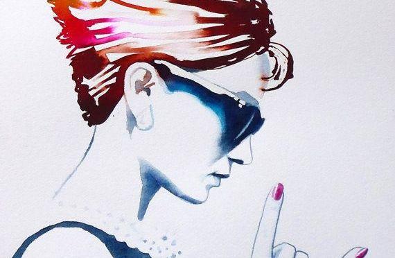 My perfect Audrey-Hepburn-meets-punk-rock Necklace